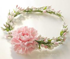 Bridal wreath, handmade flowers, wedding By Ekaterina Zverzhanskaya