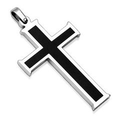 Stainless Steel Cross Necklace for Men Cross by StainlessSteelRing, $19.99