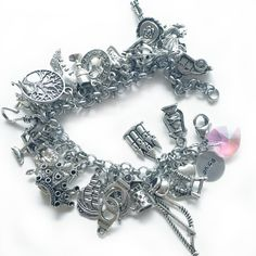 Fairy Tale Charm Bracelet Once Upon a Time by shopNerdtastic