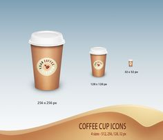 Coffee Cup Icons - Free by ~nirman