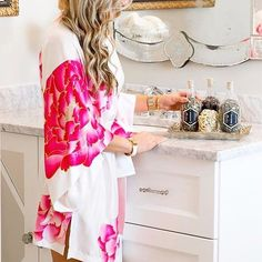 """Natori on Instagram: """"@christianblair_style is radiant in the floral #Natori Peony robe. Get the look via link in bio. #style #fashion #robe #SundayFunday…"""" • Instagram"""