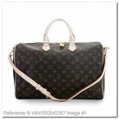 Louis Vuitton Speedy 40 with Shoulder Strap. Monogram Canvas Bag
