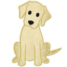 Labrador Puppy Applique Design ~ could be used for paper piecing pattern