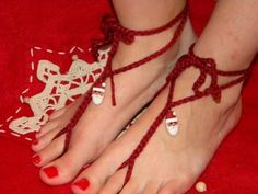 Santa Toekinis - The jolly guy is on barefoot sandals -its Christmas by RaigeCreations for $11.00