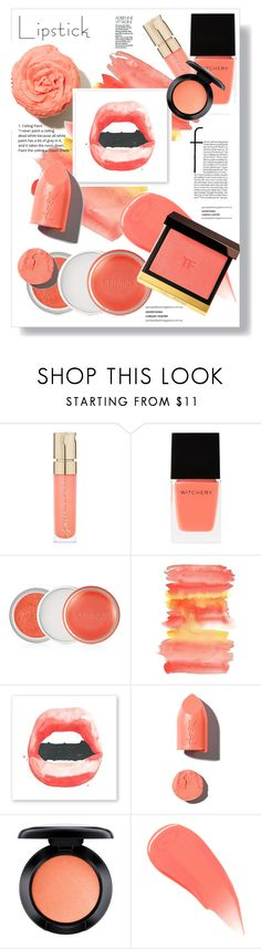 """""""Spring Lips"""" by mandiek-2 ❤ liked on Polyvore featuring beauty, Smith & Cult, Witchery, Clinique, PUR, MAC Cosmetics, Burberry, Tom Ford, Spring and coral"""