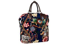 Louis Vuitton teams up with artist duo Jake and Dinos Chapman to produce a small capsule collection for the Fall/Winter 2013 season. The result is a beautiful hand-embroidered work seen on bags and scarves.