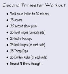 Second Trimester Workout #fitpregnancy