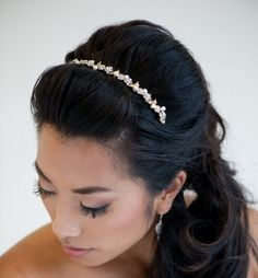 Bridal Headband  Tiara Freshwater Pearl and by PowderBlueBijoux, $42.00