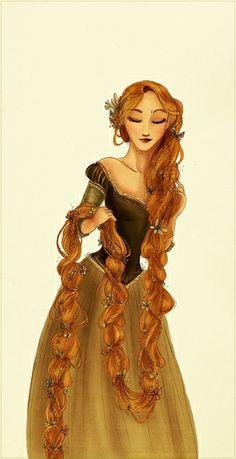 The longest braid ever, by Arbetta on deviantART (Rapunzel).it's so fairytale and princess-y looking. Disney Rapunzel, Rapunzel Flynn, Princess Rapunzel, Disney Princesses, Disney Characters, Disney Fan Art, Disney Love, Disney Magic, Disney And Dreamworks