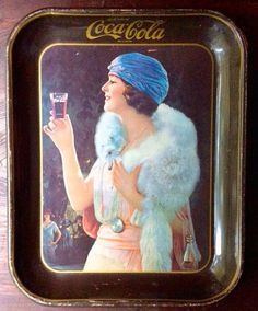 Items similar to Coca-Cola Flapper Girl Metal Tin Tray Reproduction 1925 Ad ~ Home Business Office Display Serving Tray Retro Decor Coke Bottling Co 1973 on Etsy Vintage Coca Cola, Vintage Ads, Vintage Table, Vintage Metal, Etsy Vintage, Vintage Items, Coke Ad, Pepsi, Coca Cola Party
