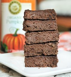 These double chocolate brownies are insanely fudgey, thanks to a secret healthy ingredient: pumpkin!