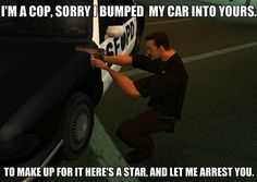 GTA Cop Logic Meme | Slapcaption.com
