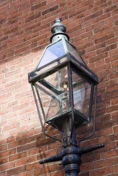 Gas lamp in Boston MA