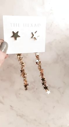 Chic earrings ⭐ Wear the star stud on its own or add the cascading cluster of stars for a stunning drop effect. Shop the VEGAS STARDUST EARRINGS at Ear Jewelry, Cute Jewelry, Jewelery, Jewelry Accessories, Fashion Accessories, Jewelry Design, Women Jewelry, Fashion Jewelry, Women Accessories