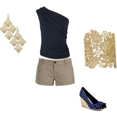 Navy Outfit!! Lovee the bracelet
