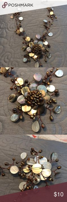 Handmade necklace Beautiful beaded design with removable broach pin Jewelry Necklaces