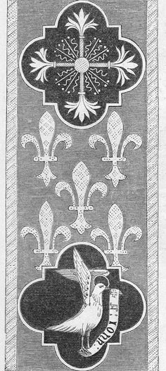 Embroidery design produced by Newton, Jones and Willis in 1851.