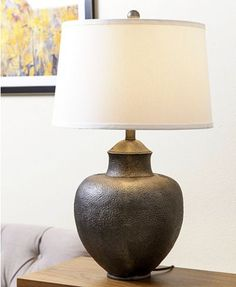 Glenn Hammer Table Lamp - All For Lamp İdeas Brown Table Lamps, Metal Table Lamps, Living Room Carpet, Home Living Room, Transitional Table Lamps, Room Lamp, Lamp Sets, Cheap Home Decor, Indoor