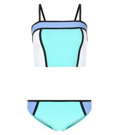 Teens Lilac Colour Block Tankini Set | New Look