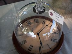 Awesome Cloche over a vintage clock face