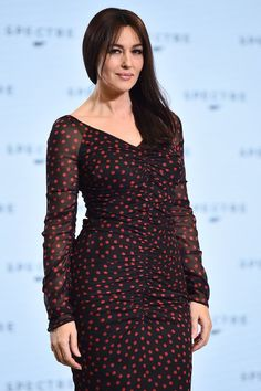 Monica Bellucci--The Italian beauty will be making history by starring in Spectre — at 50 years old, she will be playing Lucia Sciarra, becoming the oldest Bond girl ever. Interestingly enough, the actress almost played Paris Carver in Tomorrow Never Dies in 1997, but casting went with Teri Hatcher instead.