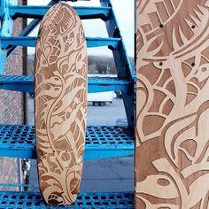 Artist: @infectedbydesign #recycledskateboardart #skatedeckart #skateboardart…