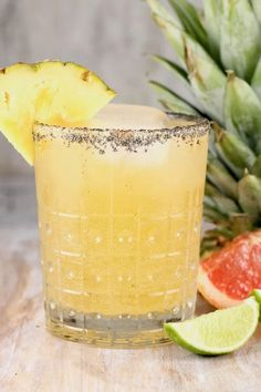 The Pineapple Paloma Cocktail is a refreshing and delicious party drink for any get together. Easy to mix up by the glass or make a pitcher for a crowd. Everyone will love this fun and easy tequila cocktail! #cocktail #paloma via @missnthekitchen Party Drinks Alcohol, Alcohol Drink Recipes, Non Alcoholic Drinks, Fun Drinks, Mixed Drinks, Yummy Drinks, Alcholic Drinks, Refreshing Drinks, Easy Cocktails