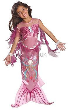 Rosa Meerjungfrau Kostüm für Mädchen Fasching Karneval Verkleidung Medium