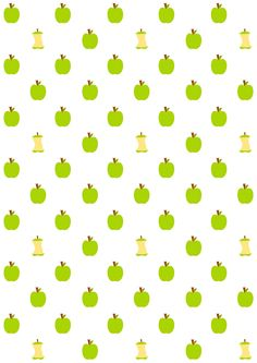 FREE printable apple core pattern paper | #funny