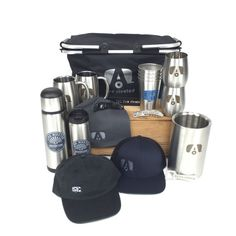 The ultimate Airstream gift basket! Free shipping on all U.S. orders http://airstreambrands.com/collections/merchandise/products/airstream-insulated-collapsible-live-riveted-deluxe-basket-bundle