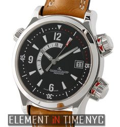 Jaeger-LeCoultre Master Compressor Memovox Stainless Steel 42mm 170.84.70 B+P #JaegerLeCoultre #LuxuryWatches