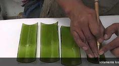 Curso de Cerámica - Fundir Botellas de Colores de Vidrio Fusing - Vitrofusion - Parte 1 - YouTube