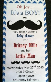 The Princess & Her Cowboys: Mustache Baby Shower