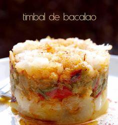 Una receta de bacalao, sencilla, saludable y equilibrada. TIMBAL DE BACALAO Ingredientes: 300g de bacalao desalado y desmigado 2 die...