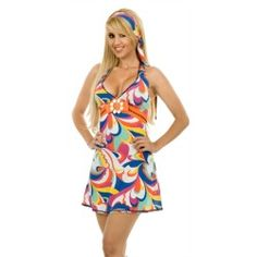 Sexy 70s Party Go-Go Girl Outfit Halloween Costume