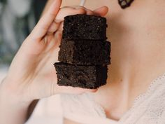 HIGH CARB, LOW FAT, VEGAN BROWNIES  Ingredients-  2 cups oat flour  ½ buckwheat flour  2 tbs flax meal  2 tbs chia seeds  1 ½ cups carob powder  1 ½ cups coconut sugar  2 tsp baking powder  2 ripe bananas  1 tsp vanilla extract  ¾ cup almond milk
