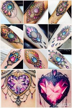 Image result for crystal tattoo