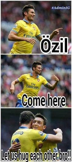 Özil and Giroud Sunderland, Arsenal Fc, Real Madrid, Premier League, Squad, Soccer, Nike, History, My Love