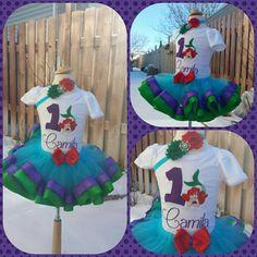 little mermaid tutu set by AMcutetutuboutique on Etsy