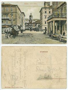 Croatia, Postcard Fiume Rijeka