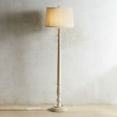 Ashmere Whitewashed Wooden Floor Lamp
