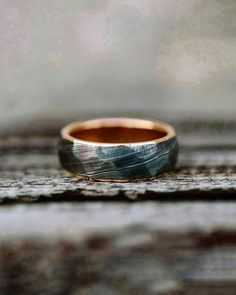 Faceted damascus on red gold, five yrs on world tour and continuing. Thanks for the picture Photo: 🔹… Damascus Ring, Damascus Steel, Red Gold, Rings For Men, Wedding Rings, Tours, Engagement Rings, Pictures, Jewelry