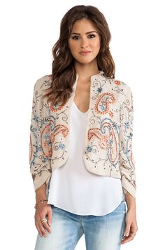 Alice + Olivia Eliette Embellished Jacket in Stone Multi - BUT $892 too much for my blood, but maybe I could make one..