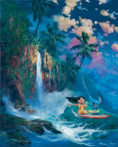 Kauai Dream: By James Coleman Disney Lilo and Stitch Fine Art