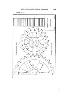 construction of the epicycloid and hypocycloid from elements of Roman Orders spur gears from elements of mechanical drawing 1904