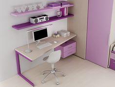 #Arredamento #Cameretta Moretti Compact: Catalogo Start Solutions 2013 >> LH18 #scrivania #mensole http://www.moretticompact.it/start.htm