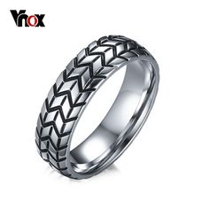 Cheap ring for, Buy Quality rings for me directly from China punk ring Suppliers: Meaeguet Classic Men's Tire Ring Stainless Steel Punk Rings For Male Wedding Band Jewelry Anel Masculino Bague Homme Jewelry Party, Cute Jewelry, Jewelry Accessories, Men's Jewelry, Steel Jewelry, Jewelry Watches, Handmade Jewelry, Punk Rock, Fashion Jewelry