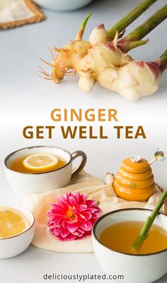 This Ginger Get Well Tea will have you feeling better in no time! #naturalremedies #gingertea #glutenfree via @leslie9612