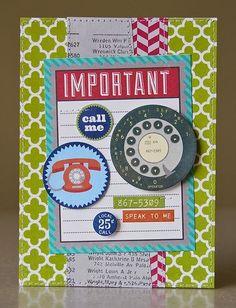 Call Me Card by Pam Brown using Jillibean Soup's Neopolitan Bean Bisque Collection (via the Jillibean Soup blog).