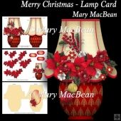 Merry Christmas - Lamp Card Tri Fold Cards, Slider Cards, Folded Cards, Christmas Lamp, Merry Christmas, Stepper Cards, Wine Bottle Tags, Bead Embroidery Patterns, Shaped Cards
